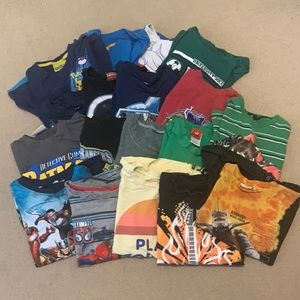 Lot of t-shirts 6 yrs old